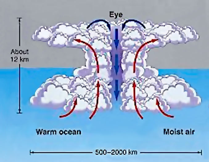 Fig. 4. The birth and formation of a hurricane